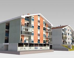 Suburban Condos 1 3D model
