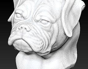 boxer dog 3D print model