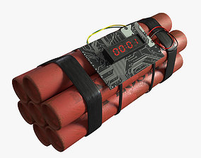 impact dynamite 3D asset VR / AR ready