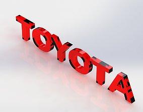3D print model TOYOTA