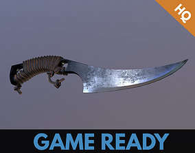 3D asset Hunter knife