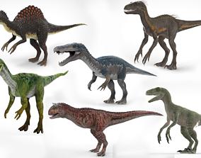 realtime 6 Dinosaurs Models