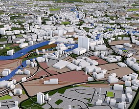 Leeds City UK 3D model
