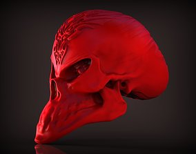 designer skull 3D print model