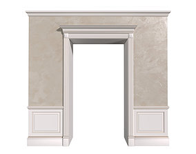 3D model Classic Doorway With Ottocento Decorative 2