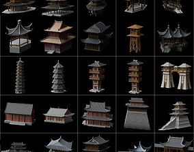 3D model Collection of ancient buildings in