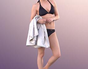 10826 Juliette - Woman In Bikini At Pool With 3D model 1