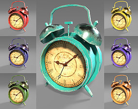 3D model Old Clock - 7 different colors - Game ready