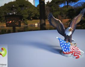 0001-10 Flag Eagle 3D printable model