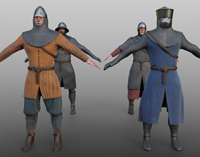 3D asset 12th Century Infantry Arms and Armours