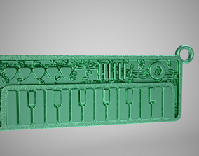 3D printable model Keyboard Keychain