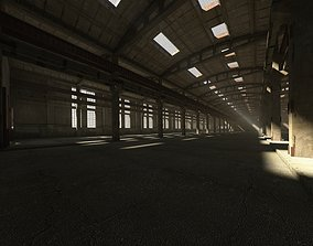 3D model hall Old Abandoned Factory Hall