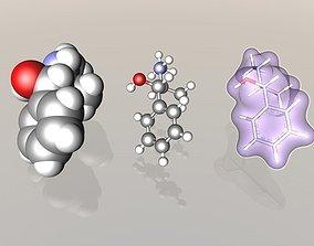 Pseudoephadrine molecule 3D
