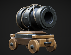 3D asset low-poly PBR unreal Cannon
