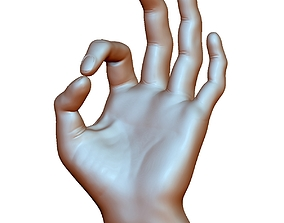 okay sign ok hand male - 3D printable model