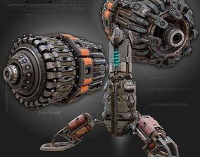sci-fi Cyberpunk parts collection - PBR 3D model