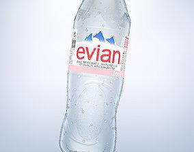 3D Bottle Evian 50cl model