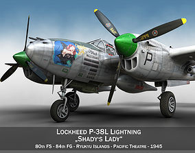 fighter 3D Lockheed P-38 Lightning Shadys Lady