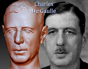 Charles De Gaulle 3D printable model