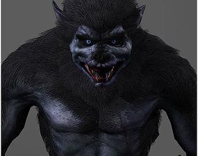 Animated Werewolf 3D model VR / AR ready