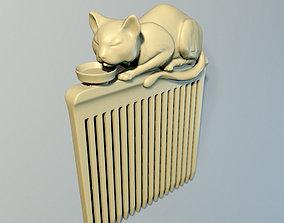 Hair comb Cat 3D printable model