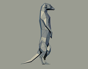 Meerkat Low Poly 3D printable model