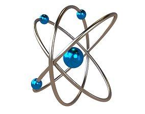 Cartoon Atom v2 003 3D model
