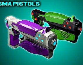 3D model Game-Ready Plasma Pistols