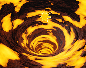 Lava shader with An Emission Object 3D