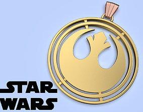 Star Wars Rebel Alliance Medallion cosplay 3d model for