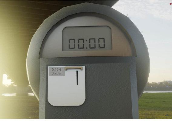 Parking Meter 1 Low-Poly Version