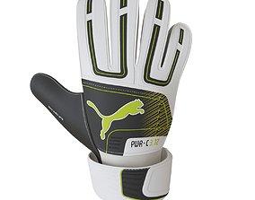 Football goalkeeper gloves 3D asset