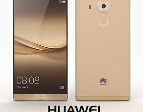 Huawei Mate 8 Champagne Gold 3D model huawei