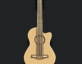 Classic Acoustic Guitar pendant 3D printable model