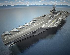 3D model USS Ronald Reagan CVN76 Carrier