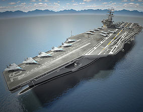 3D model USS Ronald Reagan CVN76 Carrier