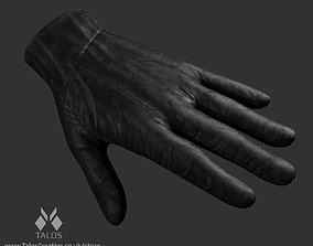 3D asset Leather Glove with High and Low Poly
