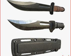 3D model Kabar Knife Pack with Sheath