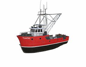 3D model Fishing Trawler PBR