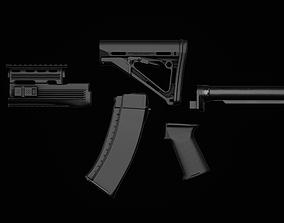 3D asset AK74 - AKM - Tactical Parts
