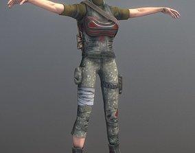 3D model Rigged Female Survivor