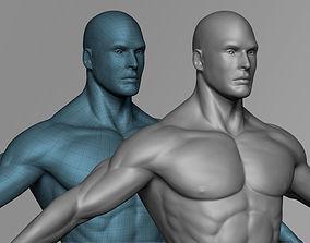 VR / AR ready man Male 3D Basemesh Model