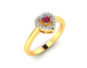 platinum Women bride solitaire ring 3dm render detail