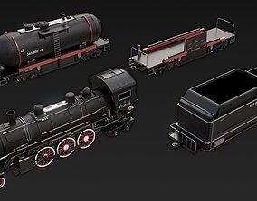 train vehicle 3D model Locomotive