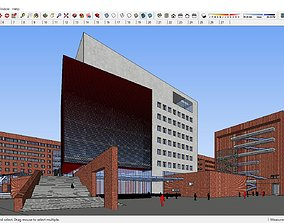 Sketchup 257 - Library building 3D