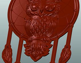 Owl dream catcher 3d stl model for cnc 3D print model