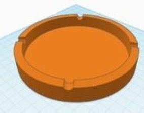 Simple ashtray 3D printable model