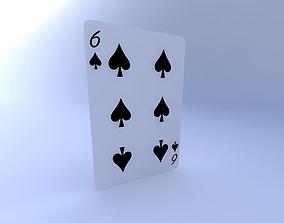 Six of Spades 3D