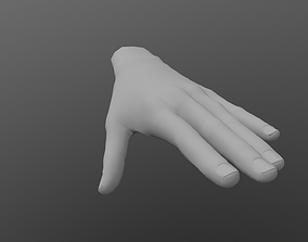 game-ready Low poly Hand base model