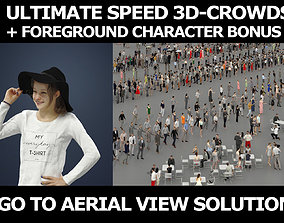 3d people crowds and Essence hat foreground teenage